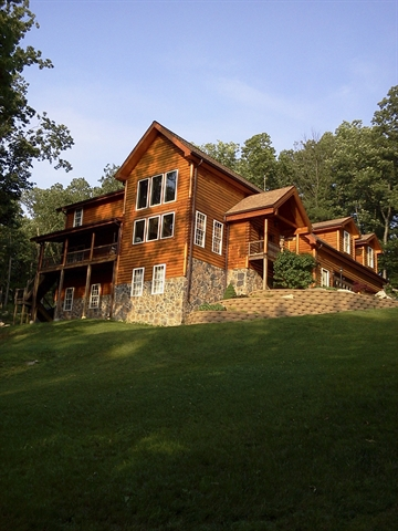 Three Beautiful Log Homes in Frederick County