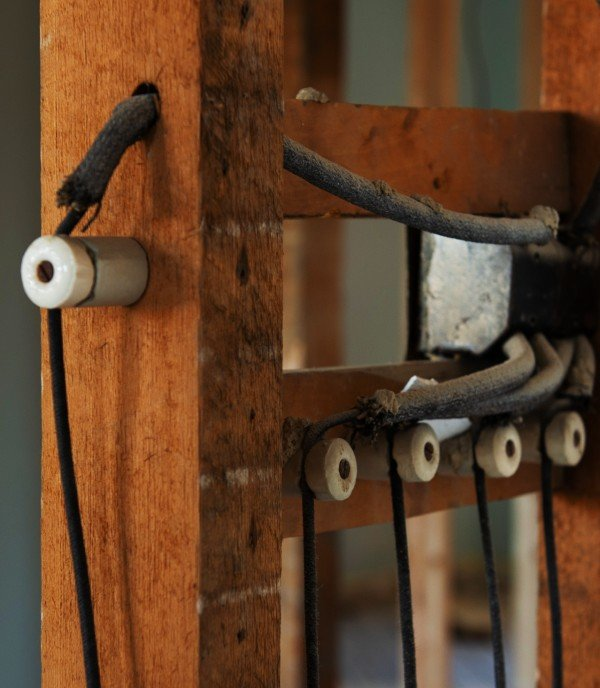 old knob-and-tube wiring in historic home