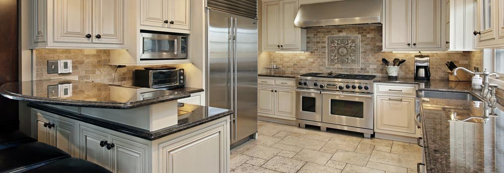 a new home kitchen with high-end features and appliances