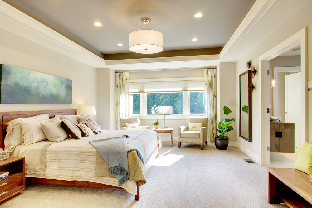 Soft white bedroom interior style
